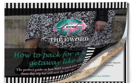 Ebook: How to pack for a weekend getaway like a Fashion Blogger! – THE F WORD