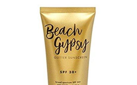 Amazon.com: Beach Gypsy SPF 30+ with Gold Glitter, 4 oz.: Beauty