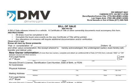Bill of Sale Form Template Vehicle [Printable]