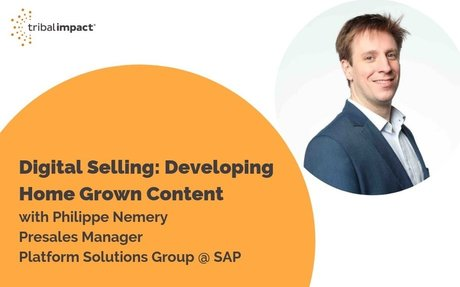 Digital Selling: Developing Home Grown Content, With Philippe Nemery #DigitalSelling