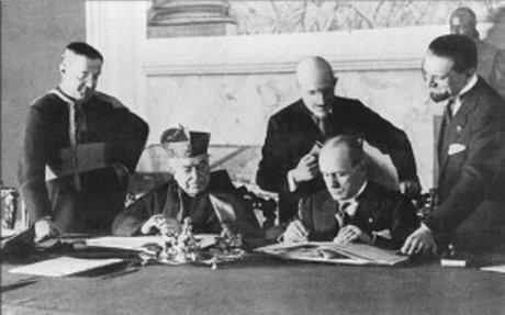 Least efficient methods used to establish power - Mussolini