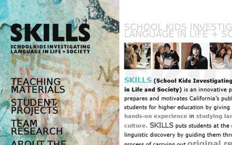 SCHOOL KIDS INVESTIGATING LANGUAGE IN LIFE + SOCIETY   SKILLS