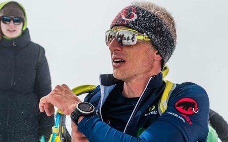 Karl Egloff a caccia del nuovo record di velocità sulla difficile parete sud dell'Aconc...