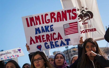Thousands protest immigration