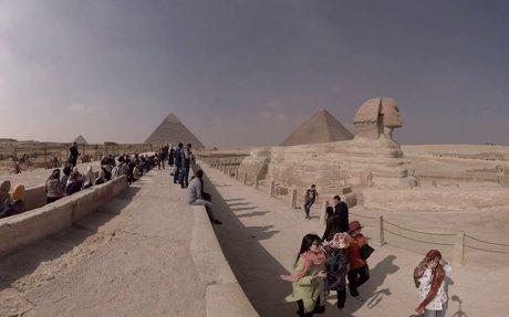 360 video: Giza Pyramid Complex - Great Sphinx of Giza, Cairo, Egypt