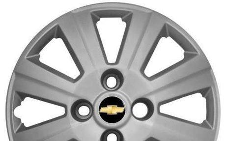 Calota Aro 14 Para Gm Agile 2012 2013 Corsa Prisma + Emblema - R$ 12,99