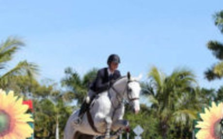 Equitation: Cooper Dean and Avalanche Take Home Blue in WEF USEF Talent Search