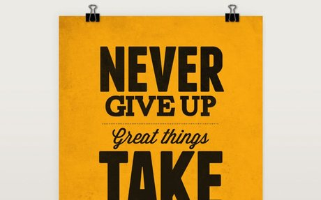 Never Give Up Print by Neuegraphic
