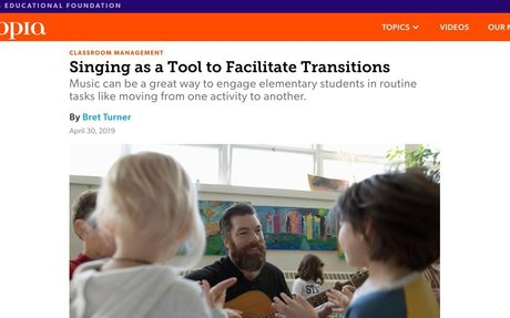 Singing as a Tool to Facilitate Transitions