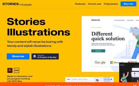 Stories Illustrations Kit