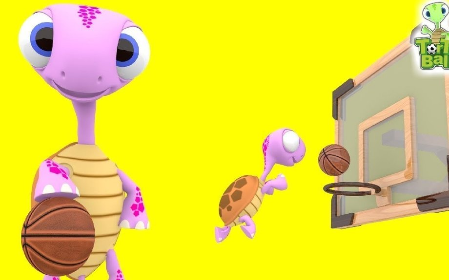BASKET BALLS Turtle and Friends Funny Shoot Basketball For Children and Kids| Torto Ball
