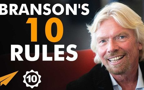 Richard Branson's Top 10 Rules For Success - YouTube