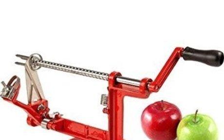 Kitchen Basics Heavy Duty Apple Peeler, Slicer and Corer, Red: Kitchen & Dinin