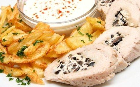 Olívás-fetás csirkemelltekercs recept