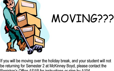 Moving over the Holidays?
