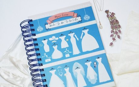 A5 Personalised Bride To Be to do list - Dresses, Wire Bound Hardback Notebook