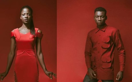 Lookbook: Aisha Abu-Bakr Luxury Designs all red Rouge to you Collection makes bold stateme
