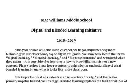 Blended Learning at Mac Williams Middle School