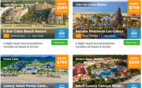 BookVIP guaranteed lowest pricing on vacation packages to Cancun,Cabo San Lucas,Orlando...