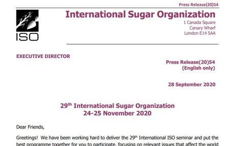 ISO November 2020 seminar to be live