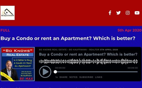 Buy a Condo or rent an Apartment?  Which is better?
