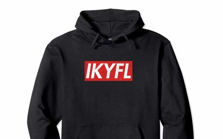 IKYFL Distressed Red Box Logo Sweatshirt