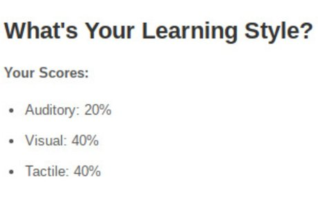 What's Your Learning Style? 20 Questions