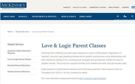 Love & Logic Parent Classes | McKinney ISD