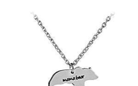 ShungHO Mama Bear Necklace Mama Bear Necklace Pendant For Mom Gift Mother's Day Birthday G