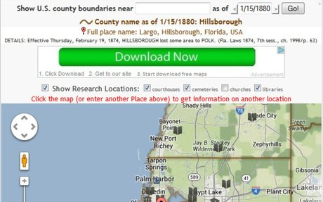 How to Find Historical County Boundary Maps