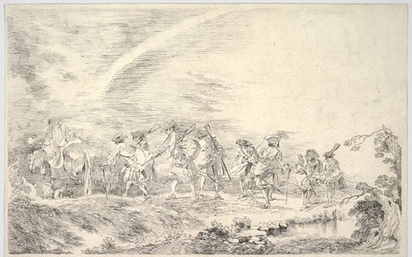 Recruits Going to Join the Regiment | Antoine Watteau