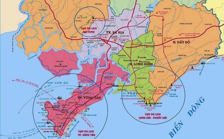 Bản đồ quy hoạch tỉnh Bà Rịa Vũng Tàu mới nhất