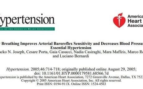 Slow Breathing Improves Arterial Baroreflex Sensitivity and Decreases Blood Pressure in Es