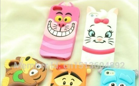3D Cartoon Animal Monsters Sulley Tigger Marie/Alice Cat,slinky dog Silicon Phone Cases Co