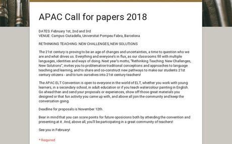 APAC Call for papers 2018