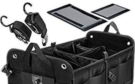 Amazon.com: Trunkcratepro Collapsible Portable Multi Compartments Trunk Organizer, Black: