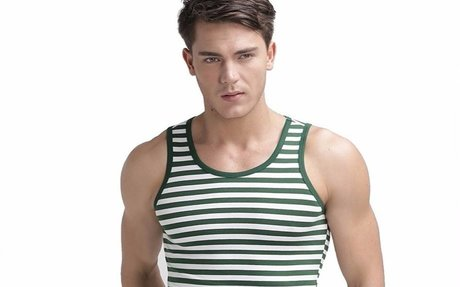 Men's Slim Fit Striped Tank Top