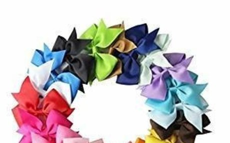 Amazon.com: Meolin 18 Colors Ribbon Boutique Hair Bows without Clip For Girl Teens Kids