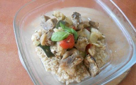 Sült zöldséges egytálétel recept