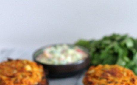 Baked Cauliflower and Sweet Potato Patties