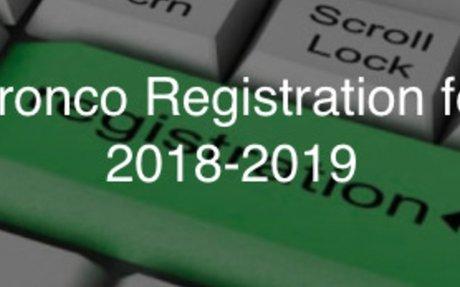 Bronco Registration for 2018-2019
