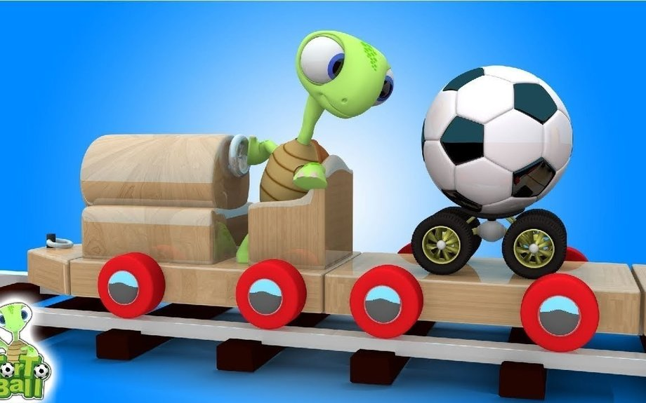 LEARN BALLS Turtles Carry Soccer Ball and Basketball For Children and Kids | Torto Ball