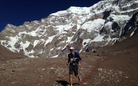 Speedclimber Karl Egloff bricht Speedrekordversuch am Aconcagua, Argentinien ab. - Trai...