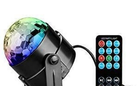 Amazon.com: DISCO BALL PARTY LIGHTS-Coidea Sound Activated Stage Light Show for parties DJ