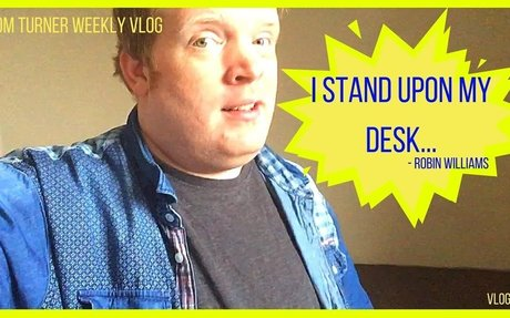 """I Stand Upon My Desk...."" 