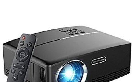 Amazon.com: OAKLETREA Projector,1800 Lumens Multimedia LED Video Projector Support HD 1080