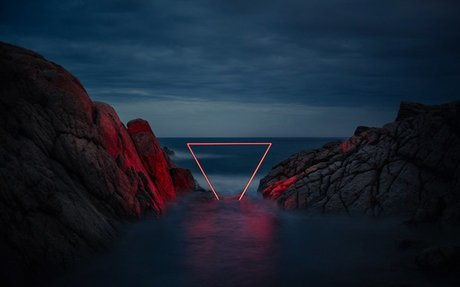 nicolas rivals weaves a luminous red line across natural landscapes in spain