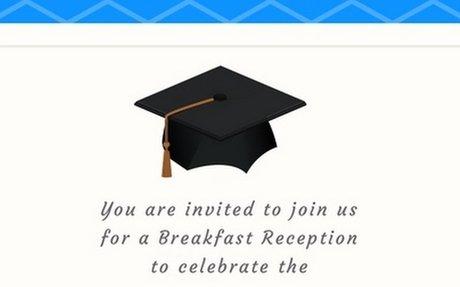 Wolford Elementary Breakfast Invitation