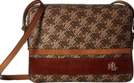 LAUREN Ralph Lauren Women's Dobson Siena Crossbody Brown/Auburn/Caramel Stripe $64.99