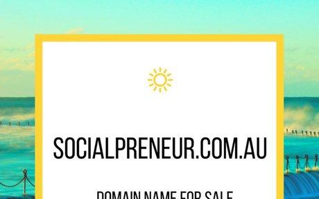 SocialPreneur.com.au Domain Name is For Sale